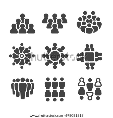 group of people,population icon set