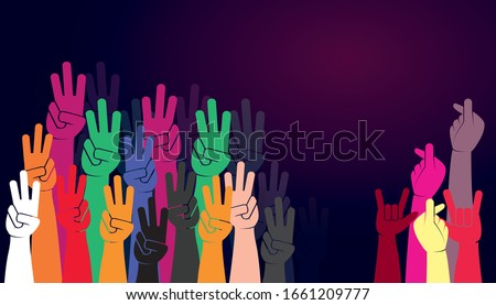 group of people's hands holding