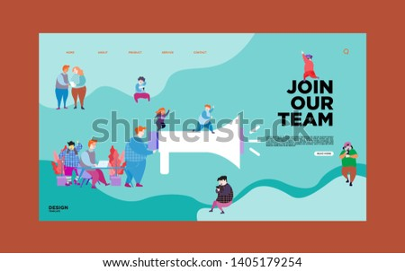 Landing page template of Join our team  Modern flat design concept
