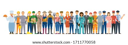 Group of People Various Professions and Occupations, Career, Worker, Labor and Government Officer Photo stock ©