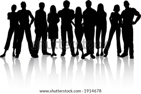 Group Of People - Vector - 1914678 : Shutterstock