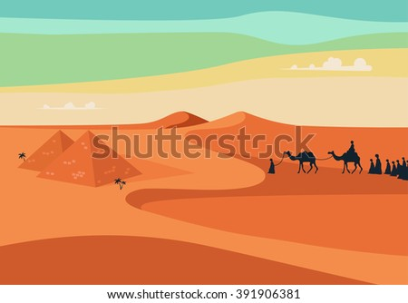 group of people with camels