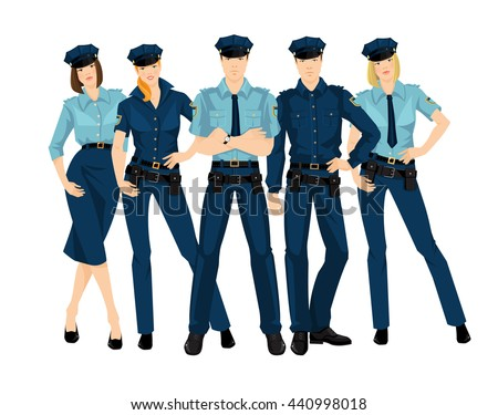 group of police men and women