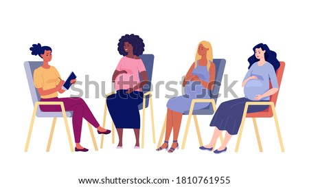 Group of psychological support for pregnant women.  Stock photo ©