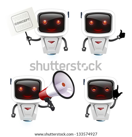 group of robots with different concepts.