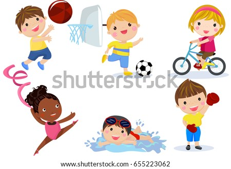 group of sport children