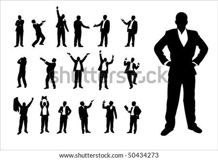 Group of successful businessmen. - stock vector