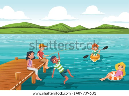 group of teens jumping from