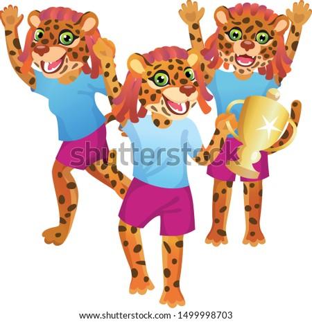 group of three jaguar girls in