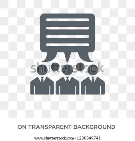 group opinion icon. Trendy flat vector group opinion icon on transparent background from general  collection.