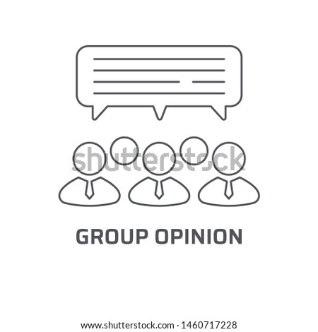 Group opinion icon. Trendy modern flat linear vector group opinion icon on white background from thin line general collection, editable outline stroke vector illustration