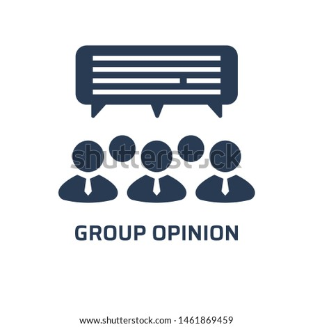 Group opinion icon. Trendy modern flat vector group opinion icon on white background from general collection, vector illustration