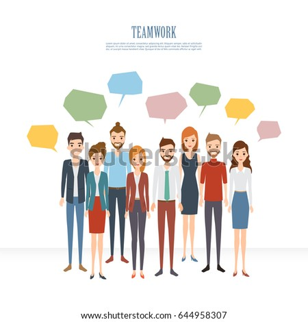 Group people business and business teamwork to brainstorming. Illustration vector of flat design.