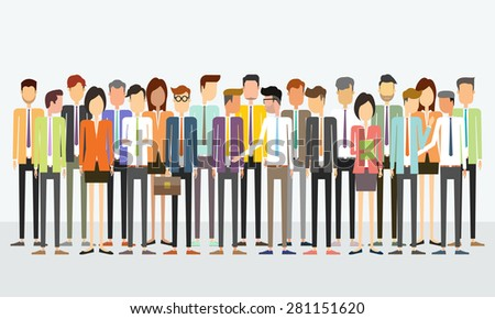 group people business team concept.crowd business