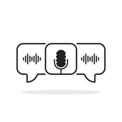 group voice chat room like black podcast icon. concept of popular method of exchanging messages and thoughts in web or internet. outline trend modern logotype graphic design element isolated on white