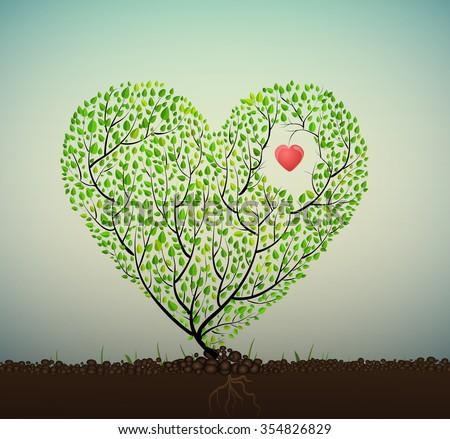 grow love  tree looks like