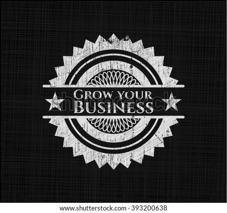 Grow your Business chalk emblem