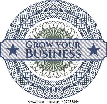 Grow your Business rosette (money style emplem)