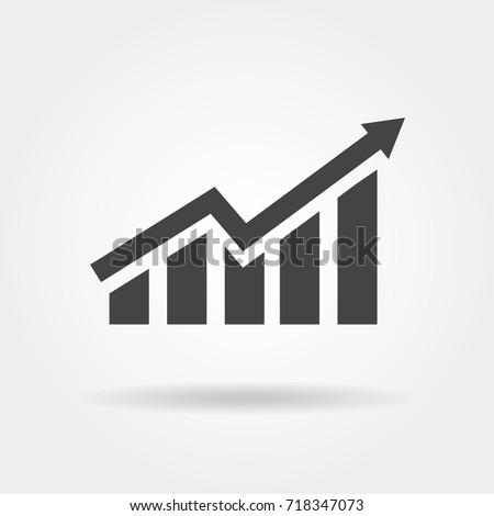 growing bar graph icon