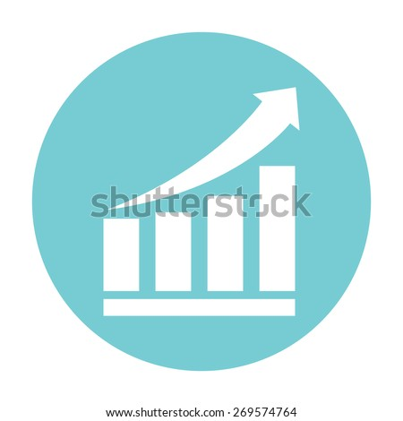 growing bars graphic icon with