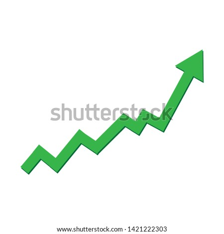 Growing business Growing business arrow on white backgroundarrow on white background