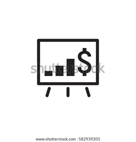 Growing Business Icon. Business Presentation. Flat Design Isolated Illustrator.
