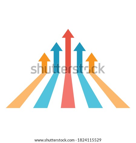 growing business sign, achievement icon, growing business symbol Stock foto ©