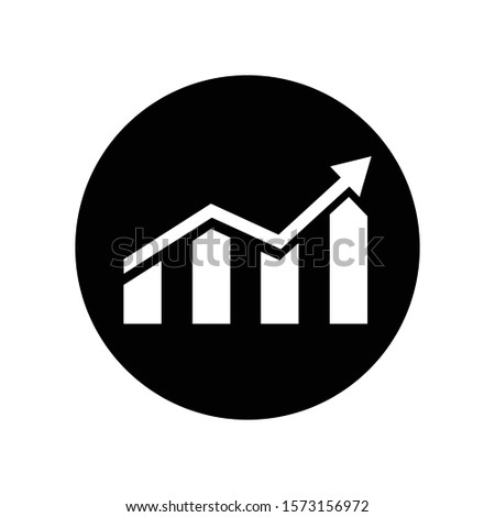 Growing graph vector icon Graph sign.