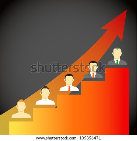 Growing leader abstract scheme