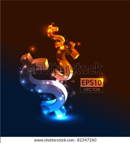 Growing money vector conceptual background