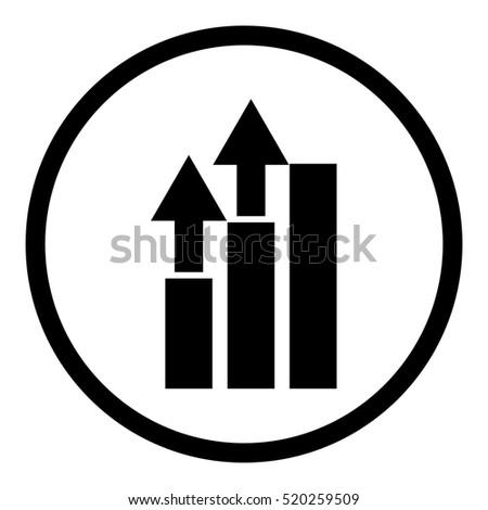 Growing Vector Graph Icon