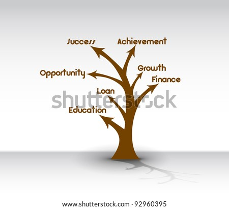 Growth arrows forming  tree. Suitable vector graphic for advertising purposes. - stock vector