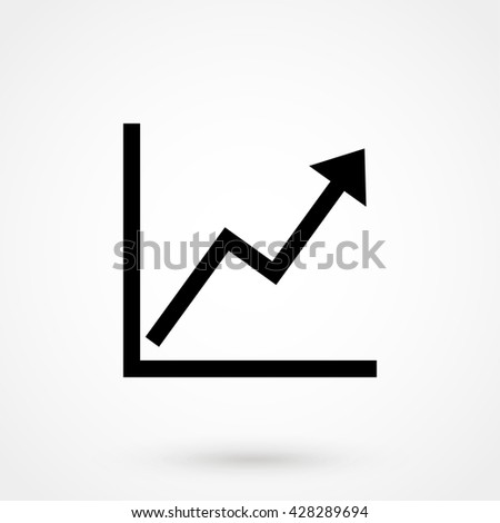 growth icon isolated on...