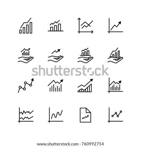 Growth icon set. Collection of high quality black outline logo for web site design and mobile apps. Vector illustration on a white background.
