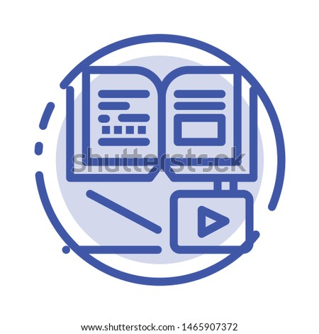 Growth, Knowledge, Growth Knowledge, Education Blue Dotted Line Line Icon. Vector Icon Template background