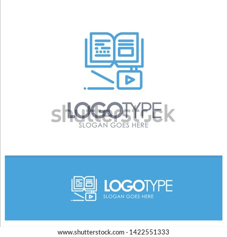Growth, Knowledge, Growth Knowledge, Education Blue Logo Line Style
