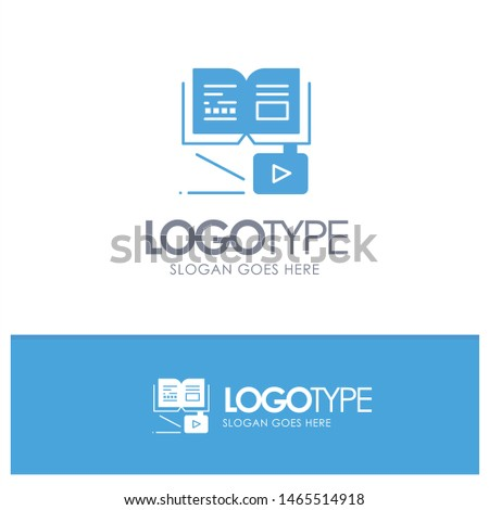 Growth, Knowledge, Growth Knowledge, Education Blue Logo vector. Vector Icon Template background