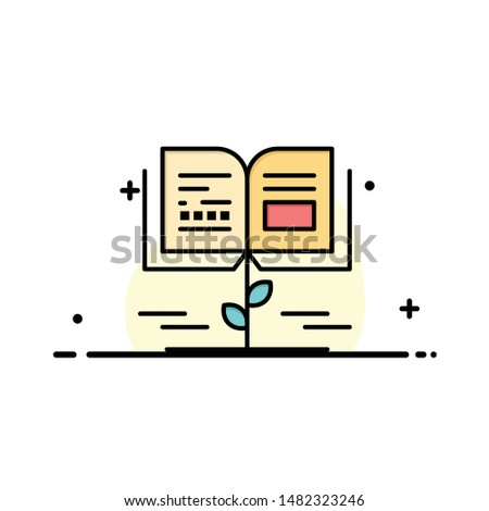 Growth, Knowledge, Growth Knowledge, Education  Business Flat Line Filled Icon Vector Banner Template