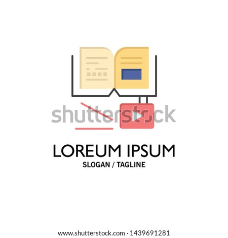 Growth, Knowledge, Growth Knowledge, Education Business Logo Template. Flat Color