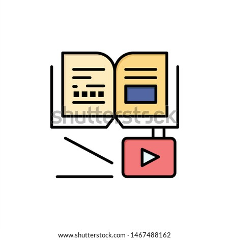 Growth, Knowledge, Growth Knowledge, Education  Flat Color Icon. Vector icon banner Template. Vector Icon Template background