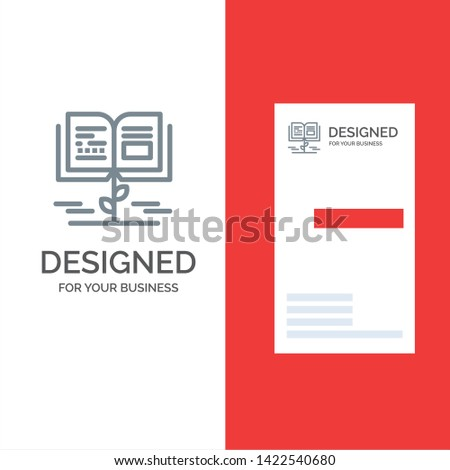 Growth, Knowledge, Growth Knowledge, Education Grey Logo Design and Business Card Template