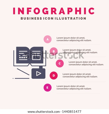 Growth, Knowledge, Growth Knowledge, Education Infographics Presentation Template. 5 Steps Presentation