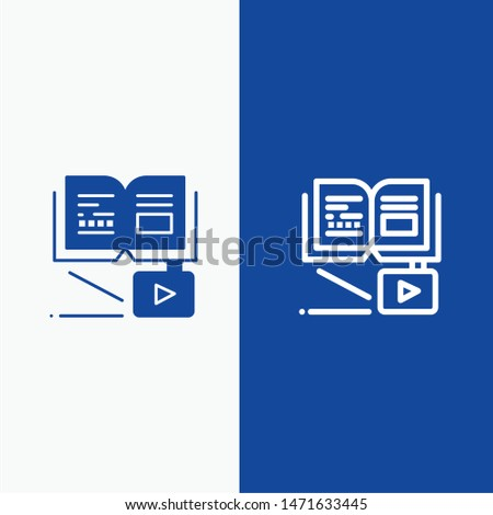 Growth, Knowledge, Growth Knowledge, Education Line and Glyph Solid icon Blue banner