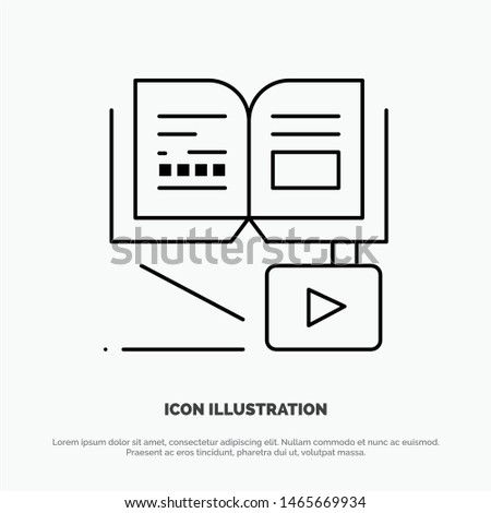 Growth, Knowledge, Growth Knowledge, Education Vector Line Icon. Vector Icon Template background