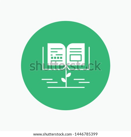 Growth, Knowledge, Growth Knowledge, Education white glyph icon
