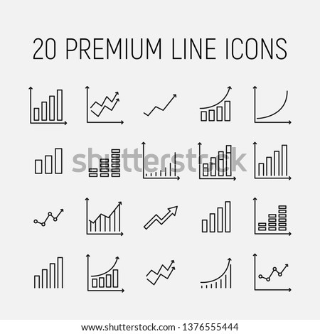 Growth related vector icon set. Well-crafted sign in thin line style with editable stroke. Vector symbols isolated on a white background. Simple pictograms