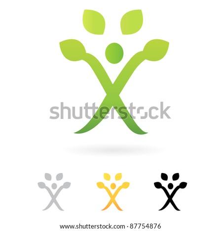 Growth symbol, Human Tree, vector design element.