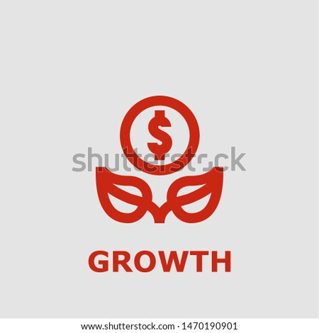 Growth symbol. Outline growth icon. Growth vector illustration for graphic art.