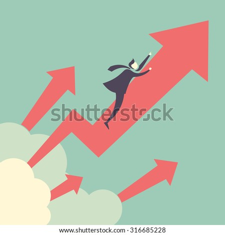 growth up concept   businessman