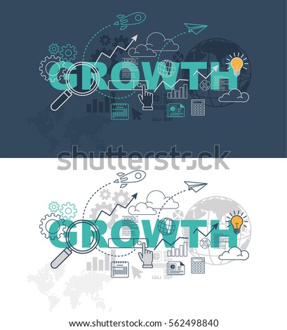 growth web page banner concept